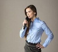Präsentation Frau