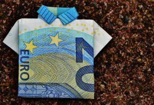 Geldschein- Gehaltsverhandlung