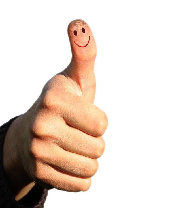 Finger zeigt nach oben Lampenfieber überwinden