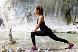 Junge Frau- Körperhaltung