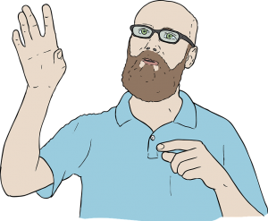 Nonverbale Kommunikation - Mann der eine Geste zeigt