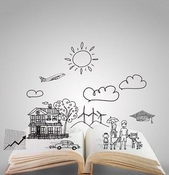 Offenes Buch über Geschichten