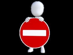 Stop Schild - Vorstellungsgespräch