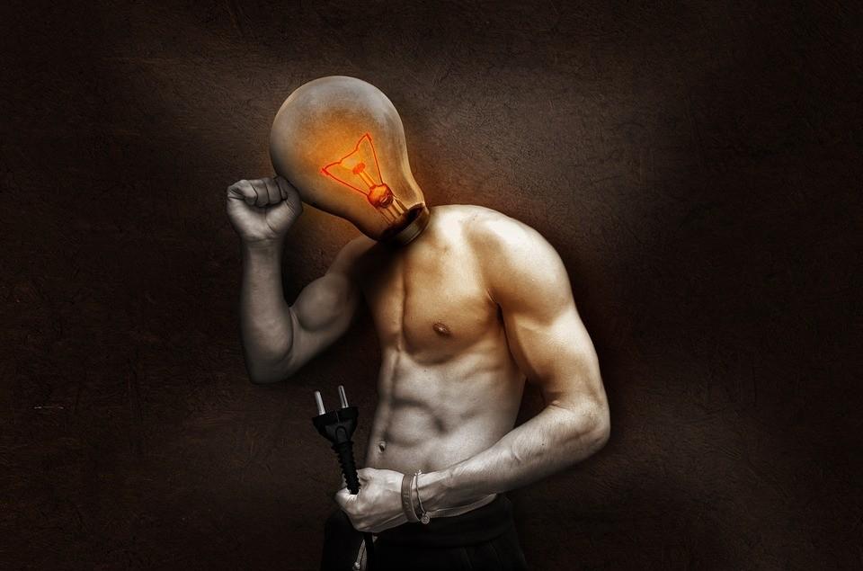 Licht geht an Rhetorik
