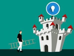 Bild von einer Burg Metapher