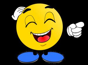 Lachender Smiley Spott