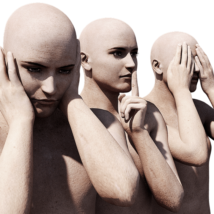 Nicht sehen, hören oder sagen Selbstüberschätzung
