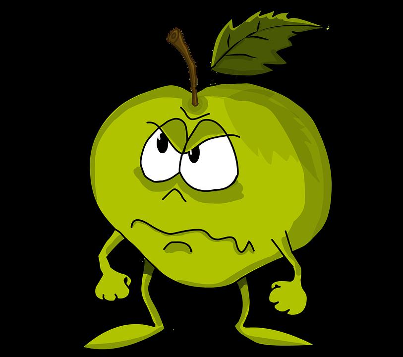 böser Apfel hat keine Persönlichkeit