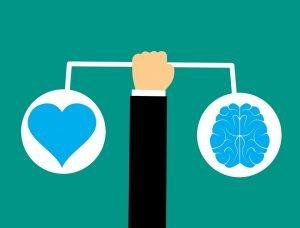 Kopf ist mit dem Gehirn zusammen Emotionen