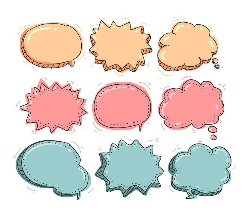 Füllwörter Sprechblasen