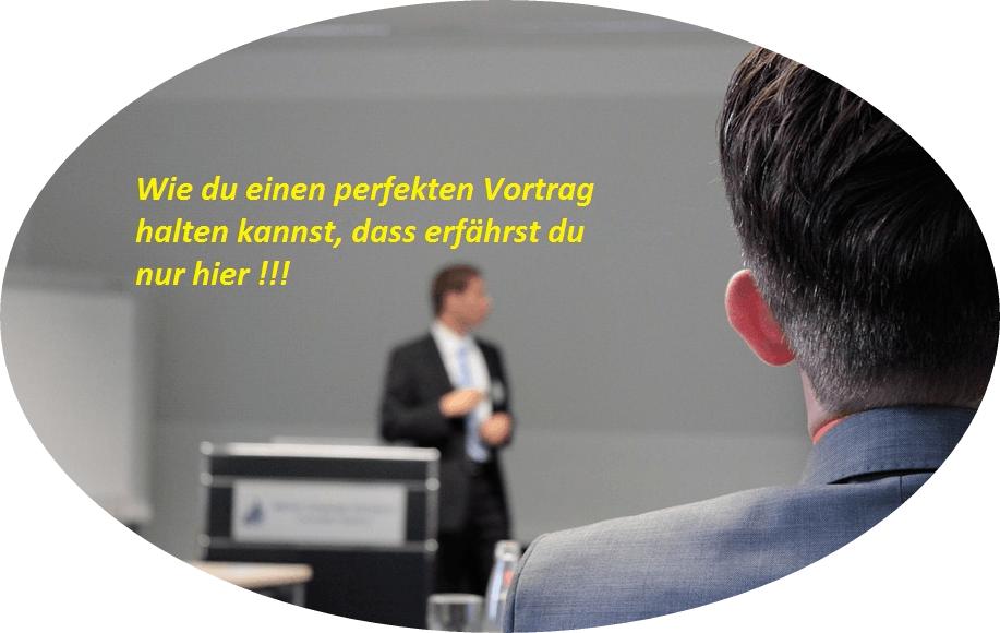 Vortrag halten Mann hält einen Vortrag