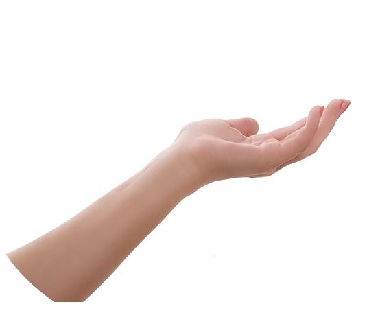 Hand zeigen Aufmerksamkeit