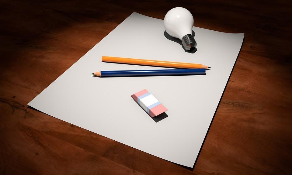 Papier und Bleistift für eine gute Präsentation