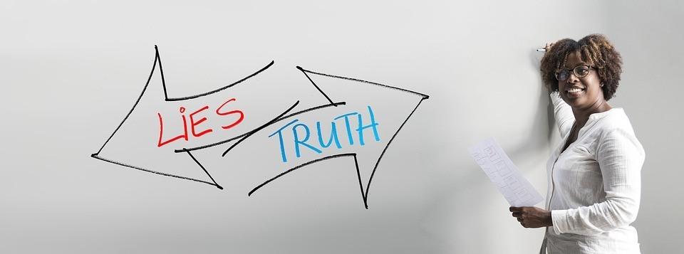 Wahr oder falsch Glaubwürdigkeit