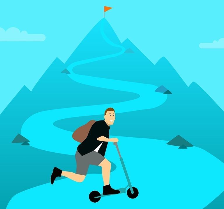 kleine Schritte zum Erfolg Unsicherheit