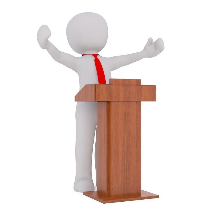 Guter Redner Ansprache