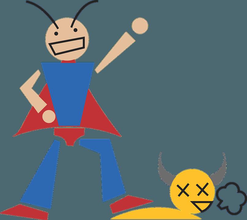Sieger und Verlierer Überzeugungskraft