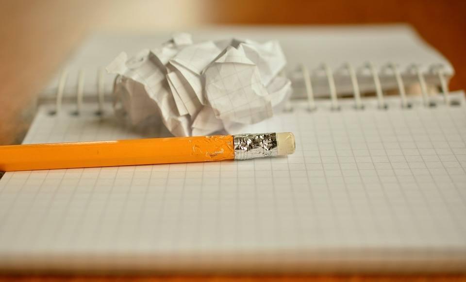 Präsentationstraining Zettel und Stift