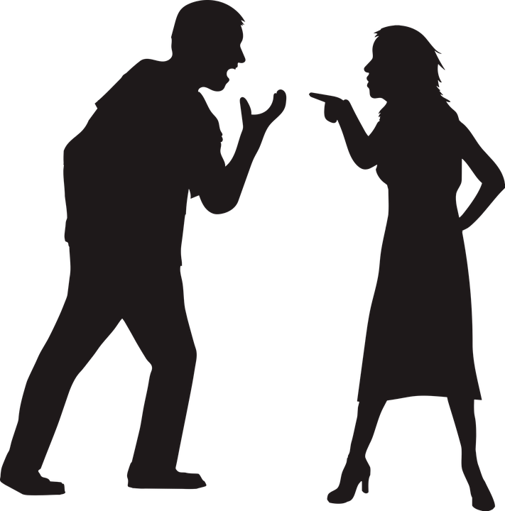 rhetorische Frage Streit Mann und Frau