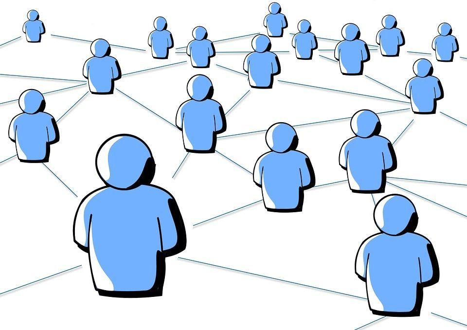 Menschen im Netz Begeisterung
