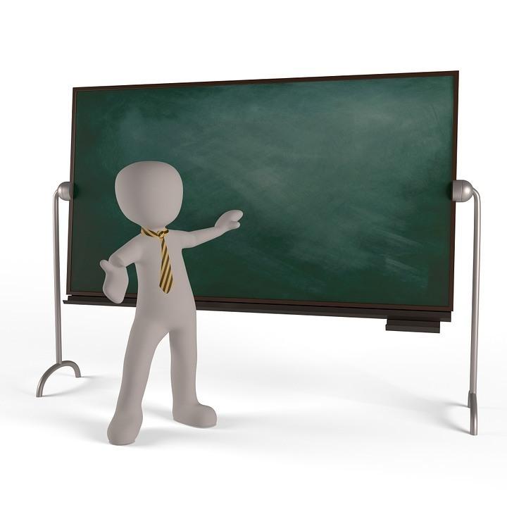 Lehrer beim Vortrag Präsentationstraining
