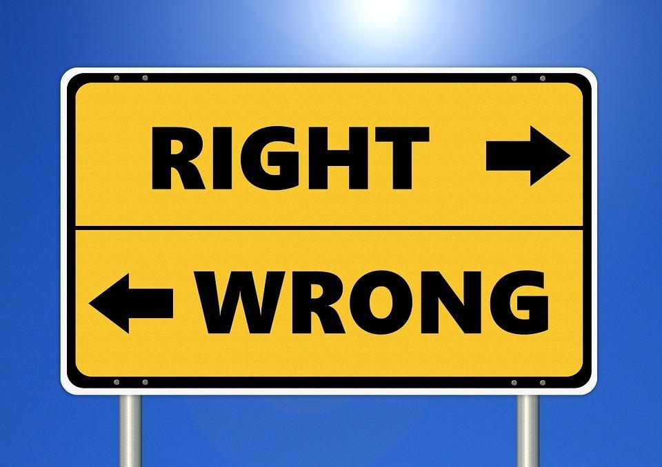 Richtig und Falsch Manipulationstechnik