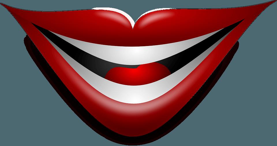 Präsentationstraining Lachender Mund