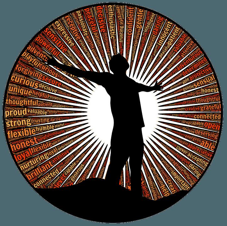 MANNINS tarker Pose Gelassenheit