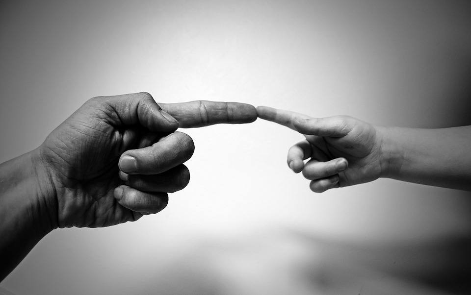 Finger verbinden Manipulationstechniken