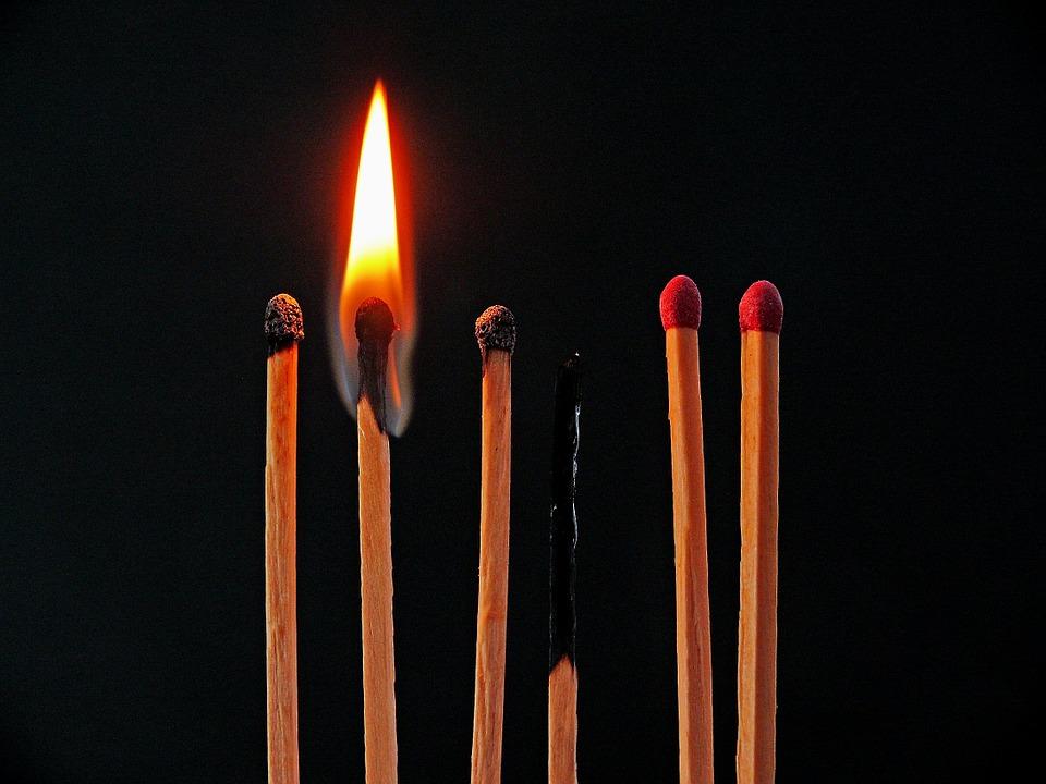 Kerze brennt aus - Einstieg in eine Rede
