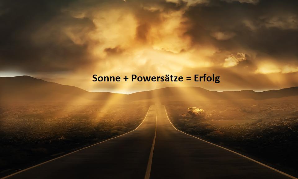 Sonne + Powersätze Autosuggestion