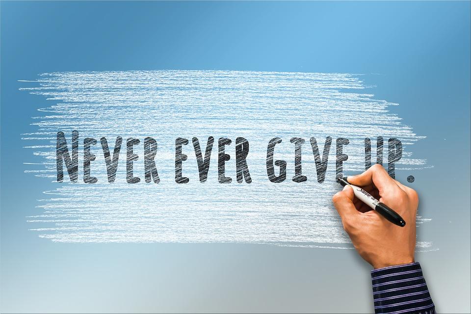 Niemals aufgeben Kompetenz