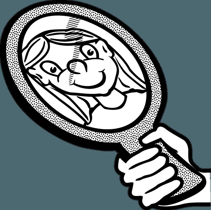 Verantwortung Spiegel schauen