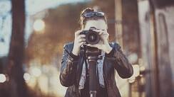 Kamera schauen