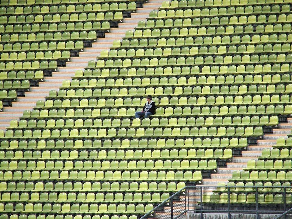 Stadion mit einer Person Seminar