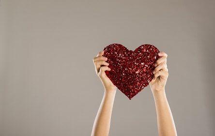 Herz hochhalten