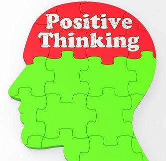 Positives Mindset im Kopf