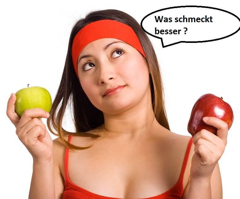 vergleich 2 Äpfel