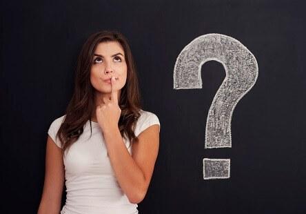 Rhetorische Mittel Fragezeichen Frau
